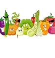 funny vegetable and spice cartoon on white vector image