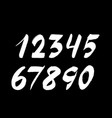 handwritten numbers isolated on background hand vector image vector image
