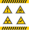 hazard advise symbols vector image vector image