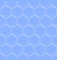 hexagonal seamless embossed background in light vector image vector image