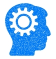Intellect Gear Grainy Texture Icon vector image vector image