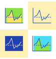 invest report graph icon set in flat and line vector image vector image