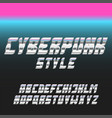 italic bold font stainless glowing blue and pink vector image