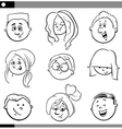 kids characters set vector image vector image