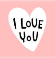lettering love card vector image vector image