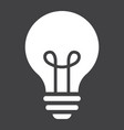 light bulb solid icon lamp and idea light vector image vector image