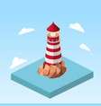 lighthouse on a rock isometric vector image