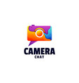 logo camera gradient colorful style vector image