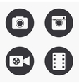 Modern camera icons set vector image