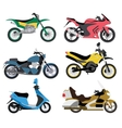 Motorcycle types multicolor motorbike ride speed vector image