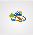 mountain house logo icon element and template vector image vector image