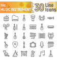 music instrument line icon set musical symbols vector image vector image