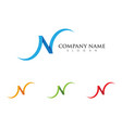 n letter logo template icon vector image vector image