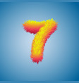 number 7 from fur alphabet vector image