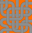 orange labyrinth vector image