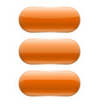 orange oval glass buttons vector image