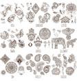 oriental decorative symbols vector image vector image