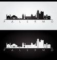 palermo skyline and landmarks silhouette vector image vector image