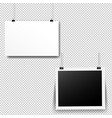 paper cards set transparent background vector image