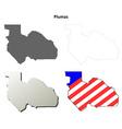 Plumas County California outline map set vector image vector image
