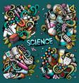 science cartoon doodle designs set vector image vector image
