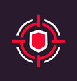 security breach icon vector image vector image