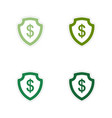 Set of paper stickers on white background dollar vector image vector image
