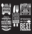 set vintage typographic food quotes for menu vector image vector image