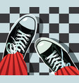 sneakers - athletic shoes vector image vector image