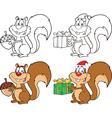 Squirrell cartoon set vector image vector image