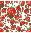 strawberry in chocolate seamless pattern vector image vector image