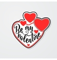 stylish sticker for vector image vector image