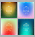 vibrant gradient background set vector image vector image