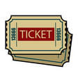 vintage colorful cinema tickets concept vector image vector image