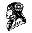 vintage tattoo concept attractive woman vector image vector image