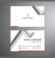 white business cards set design template vector image