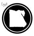 white map of egypt on black circle vector image