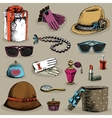 Womens accessories set vector image vector image