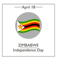 Zimbabwe Independence Day vector image vector image