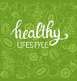 background healthy food poster or banner with vector image