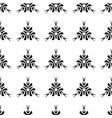 ethnic seamless black pattern on white background vector image