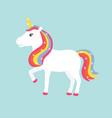 unicorn poster vector image