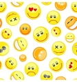 colorful smiles seamless pattern vector image