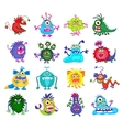 Scary monster set vector image