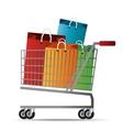 shopping cart bag gift icon vector image
