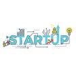 Business Startup word design vector image