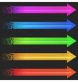 Color arrow pixel vector image