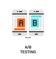 a b testing icon vector image vector image