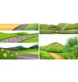 a nature park landscape vector image vector image
