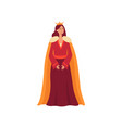a young medieval queen from a fairy tale stands in vector image